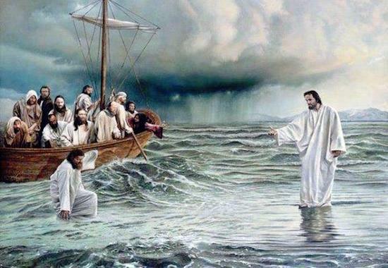 fe andar nas aguas